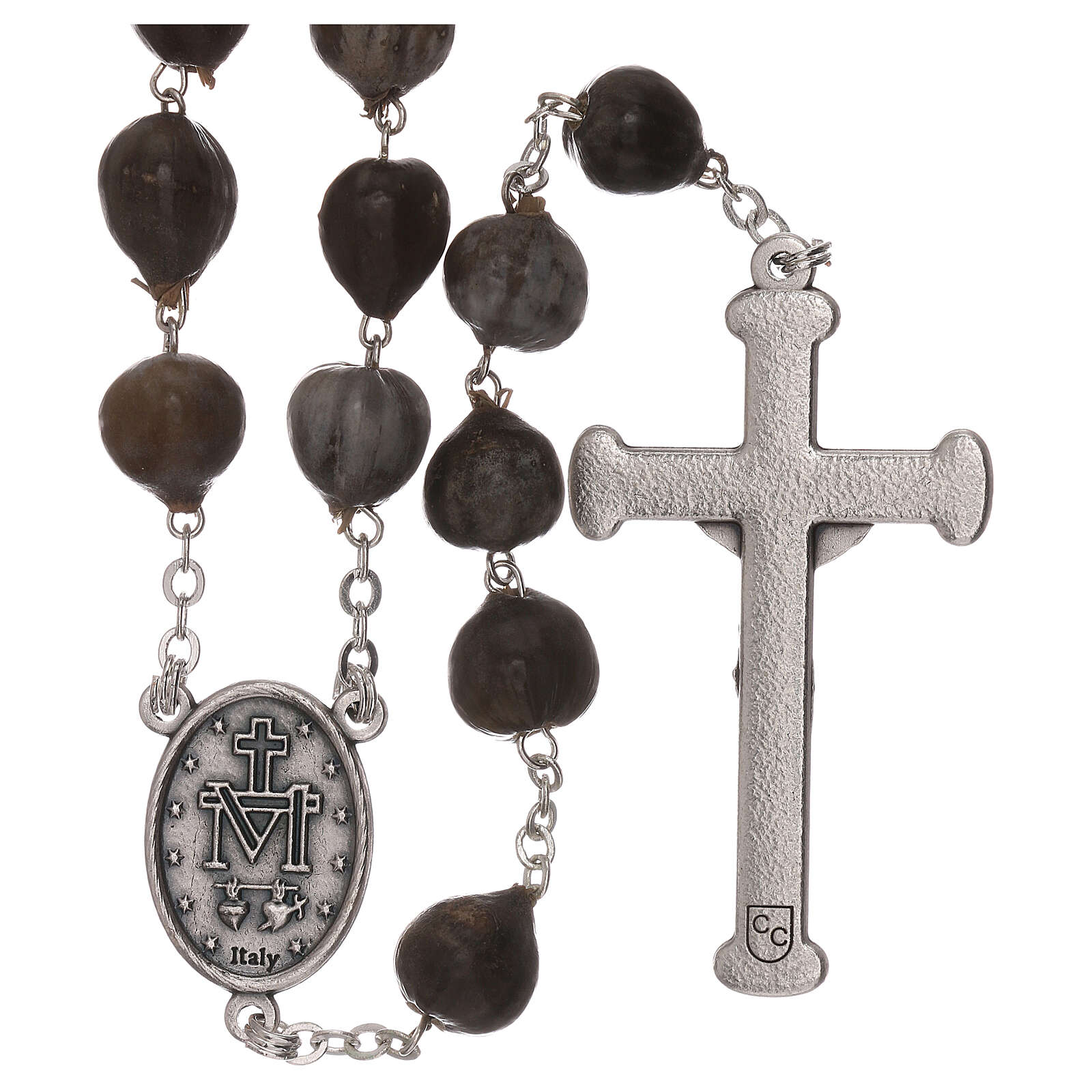 Wood rosary with Job's tears beads 7 mm 4
