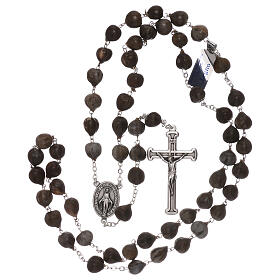 Wood rosary with Job's tears beads 7 mm s4