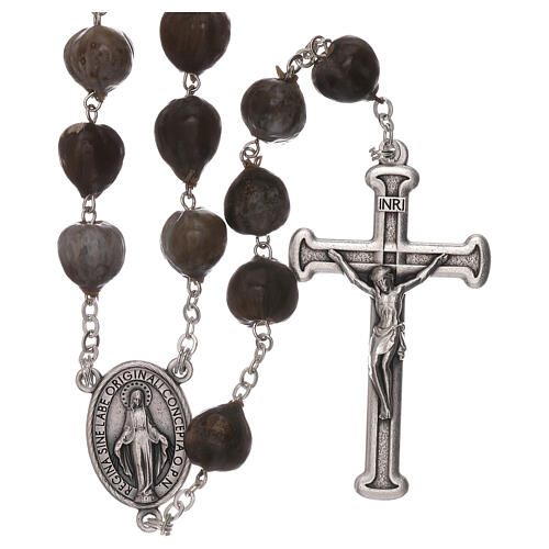 Wood rosary with Job's tears beads 7 mm 1