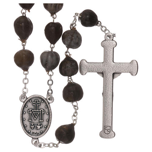 Wood rosary with Job's tears beads 7 mm 2