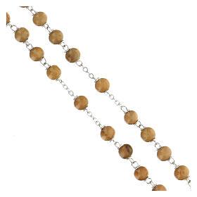 Rosario grani legno ulivo 6 mm  s3