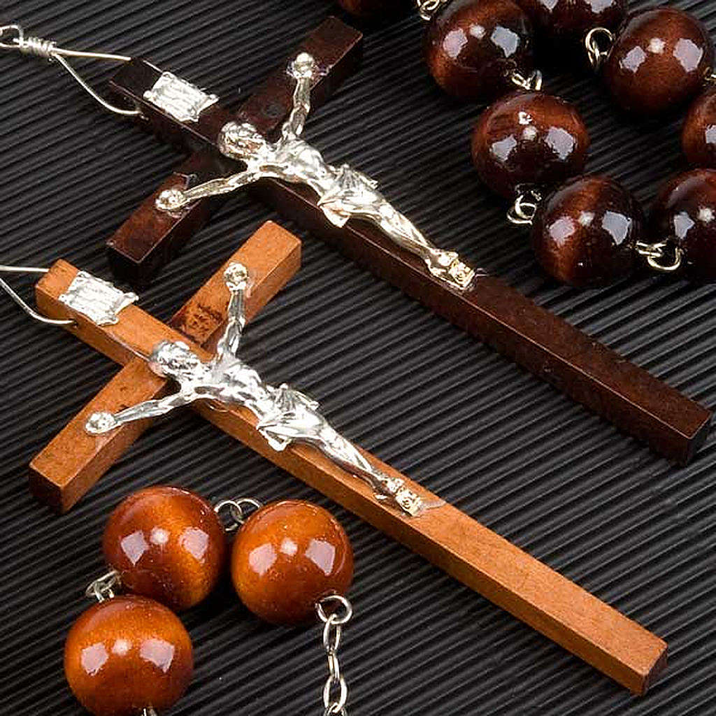 Wall rosary with wood round beads, 20mm 4