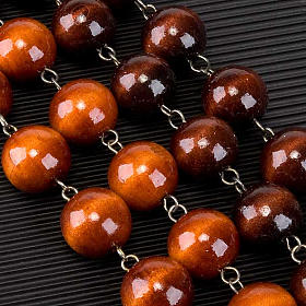 Wall rosary with wood round beads, 20mm s4