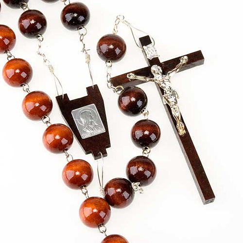 Wall rosary with wood round beads, 20mm 1
