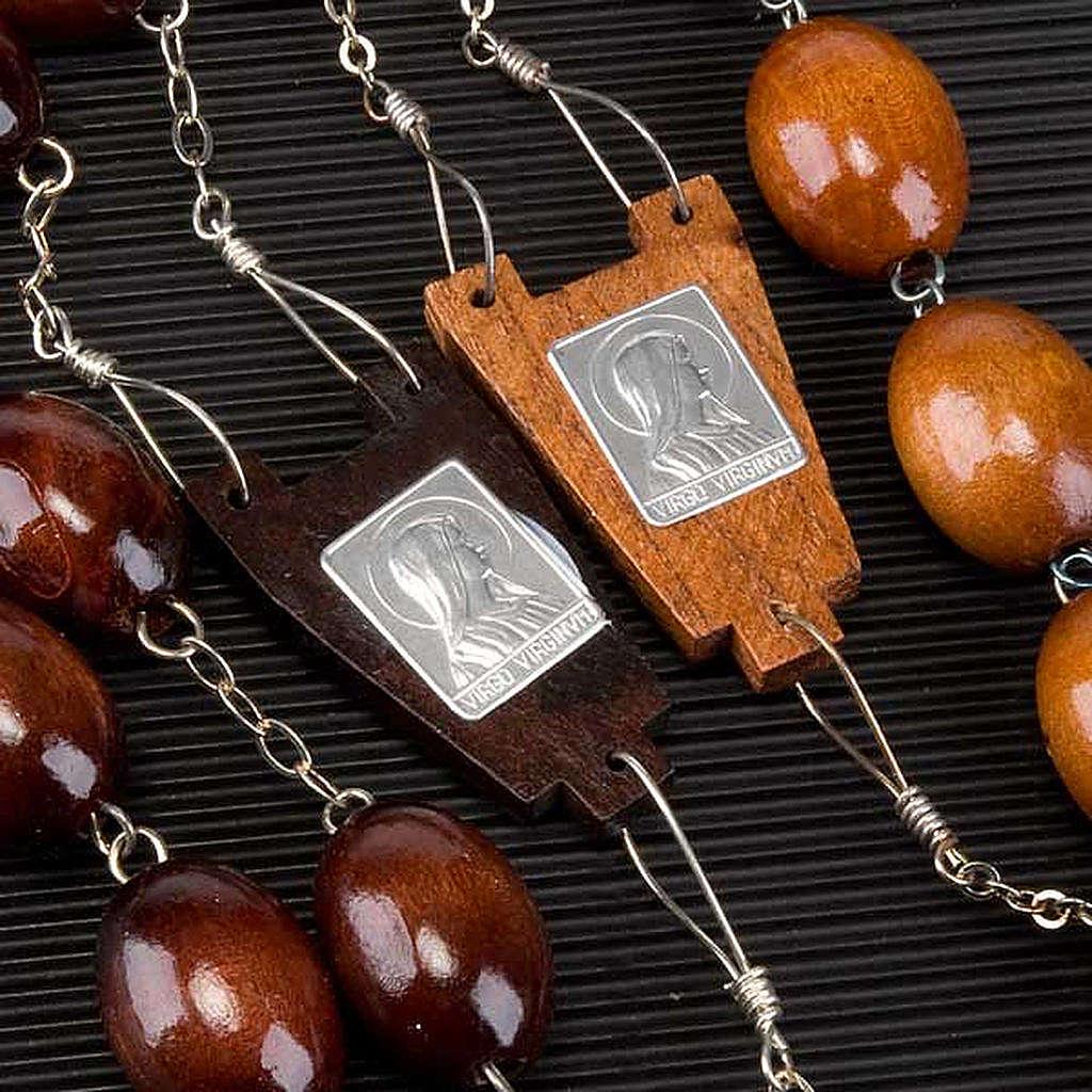 Rosario capoletto legno grano ovale 30 mm 4