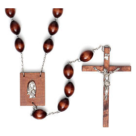 Wall rosary with wood oval beads, 30mm s1
