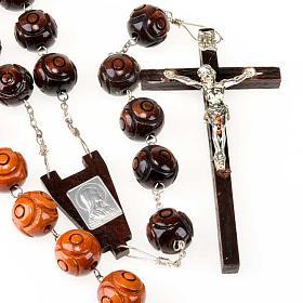Rosari capoletto: Rosario capoletto legno grano tondo inciso 20 mm