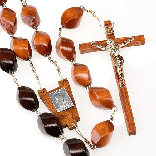 Carved bead bedboard rosary 1