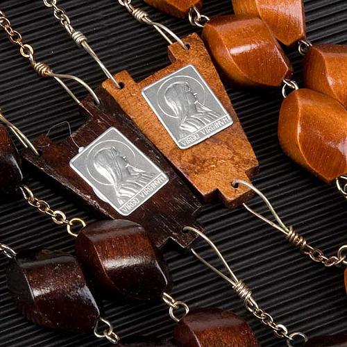 Rosario capoletto legno grano intagliato 30 mm 2