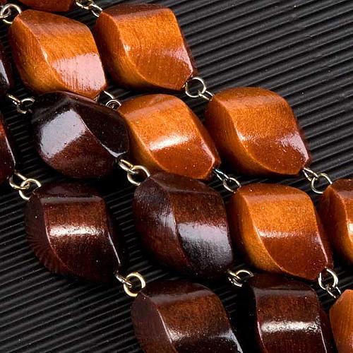 Rosario capoletto legno grano intagliato 30 mm 3