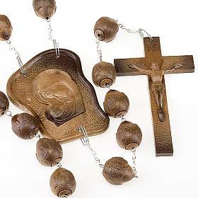 Headboard rosaries: Brown bedboard rosary