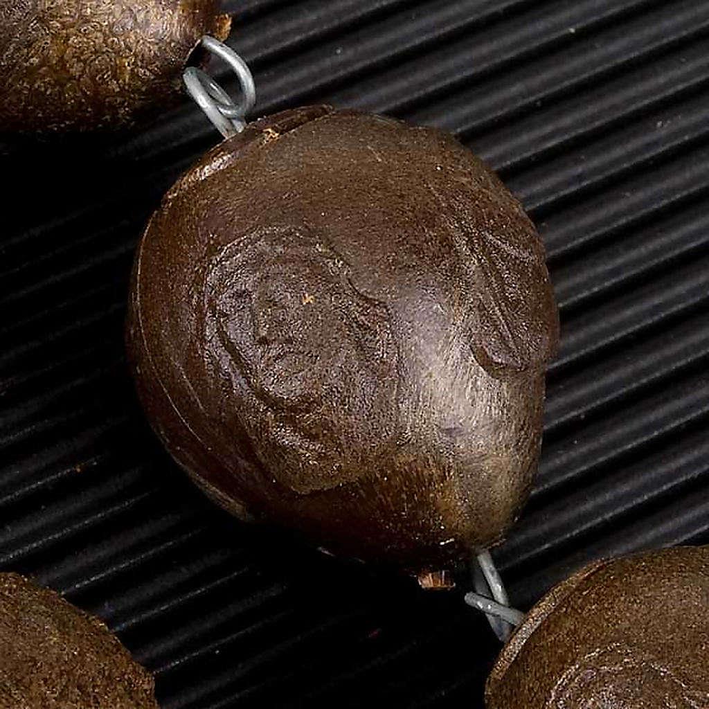 Rosario capoletto plastica marrone 25 mm 4