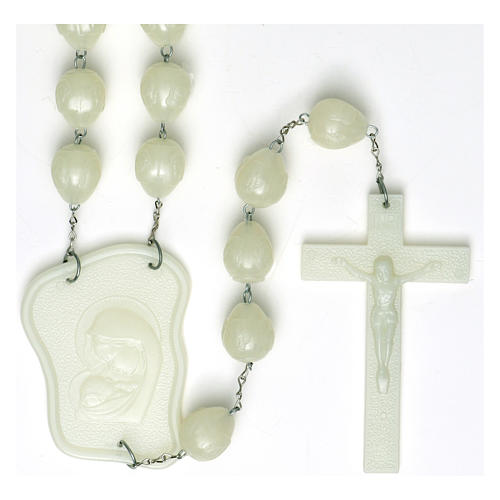 Luminous large rosary 25mm beads 1