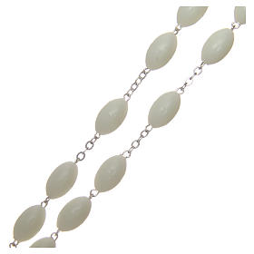Rosario capoletto in plastica ovale fosforescente 1,5x0,9 mm s3