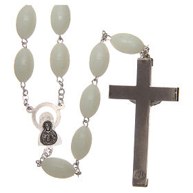 Large wall rosary with plastic phosphorescent oval plastic beads 1,5x0,9 mm s2