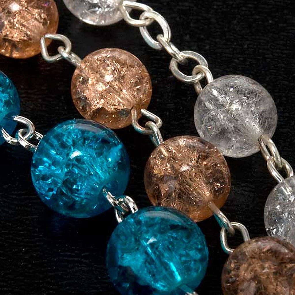 Cracked crystal rosary 4