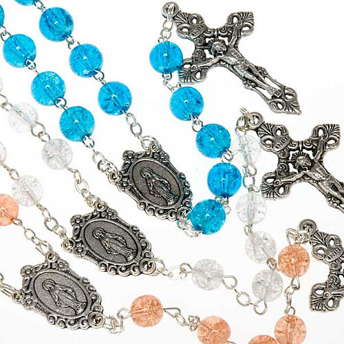 Cracked crystal rosary 1