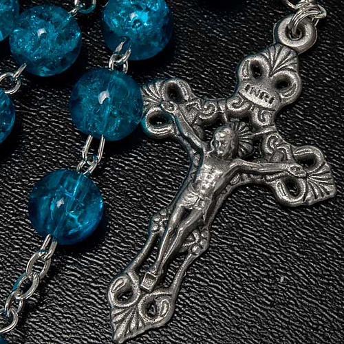 Cracked crystal rosary 2