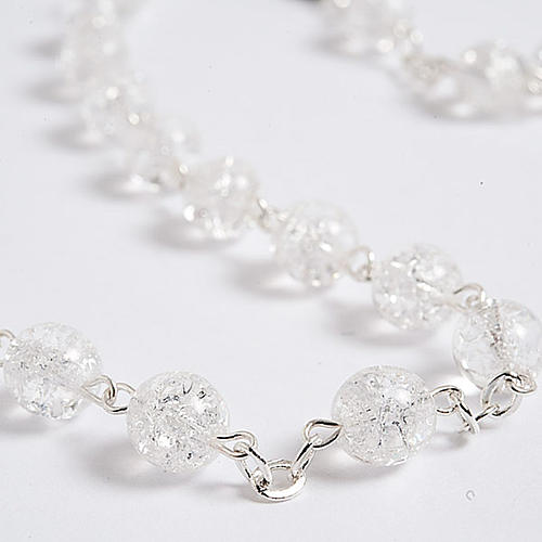 Cracked crystal rosary 8