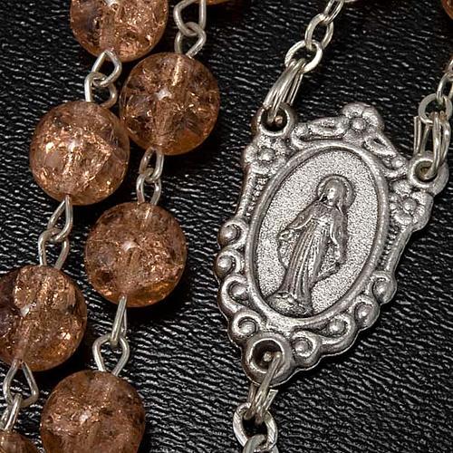 Cracked crystal rosary 3