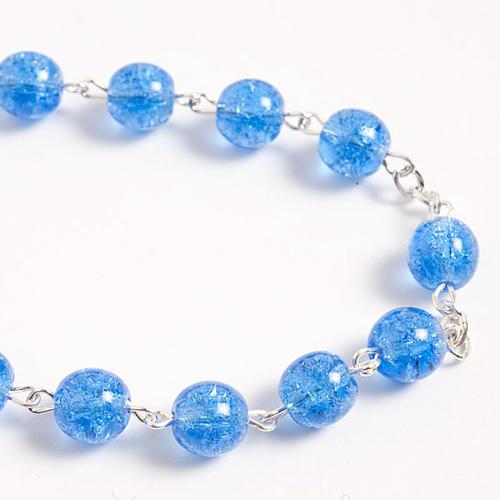 Cracked crystal rosary 6