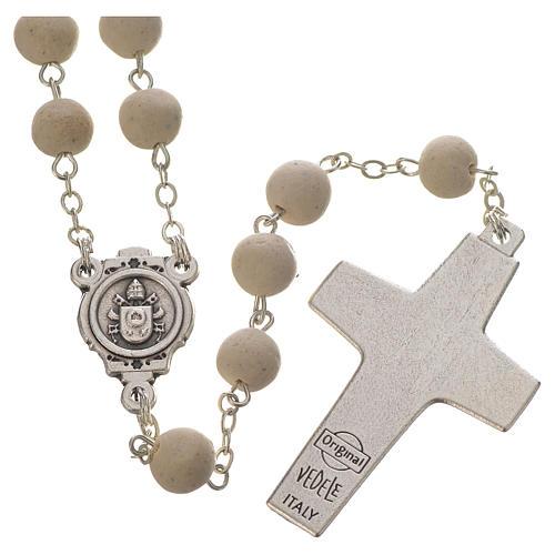 Jasmine perfumed rosary beads, white, Pope Francis 2