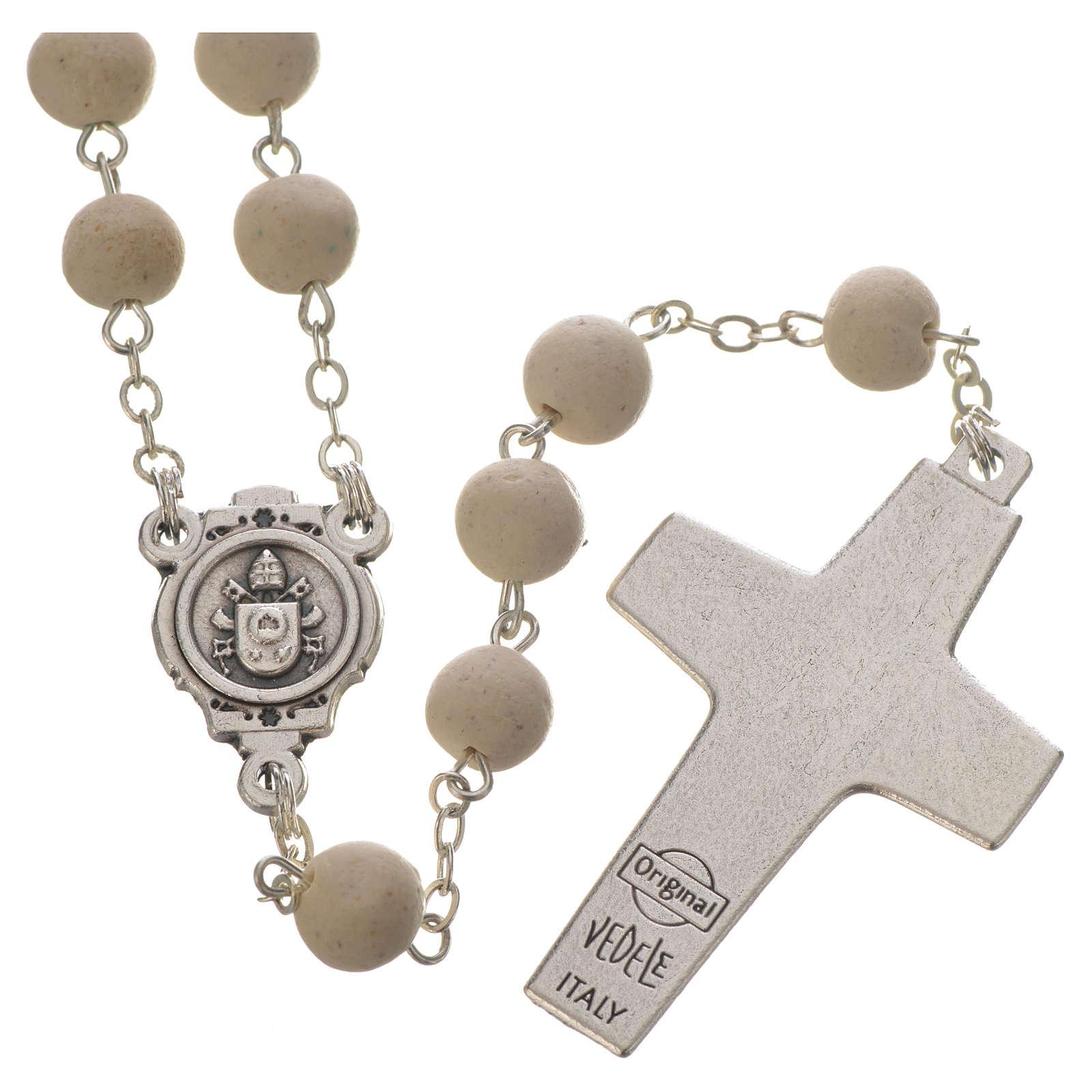 Terço perfumado de jasmim branco Papa Francisco 4