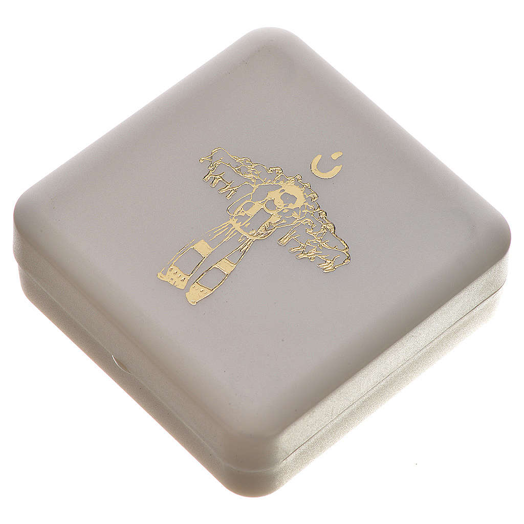 Jasmine perfumed rosary beads, white, Pope Francis 4