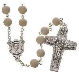 Jasmine perfumed rosary beads, white, Pope Francis s1