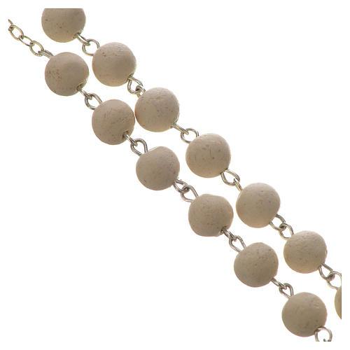 Jasmine perfumed rosary beads, white, Pope Francis 3