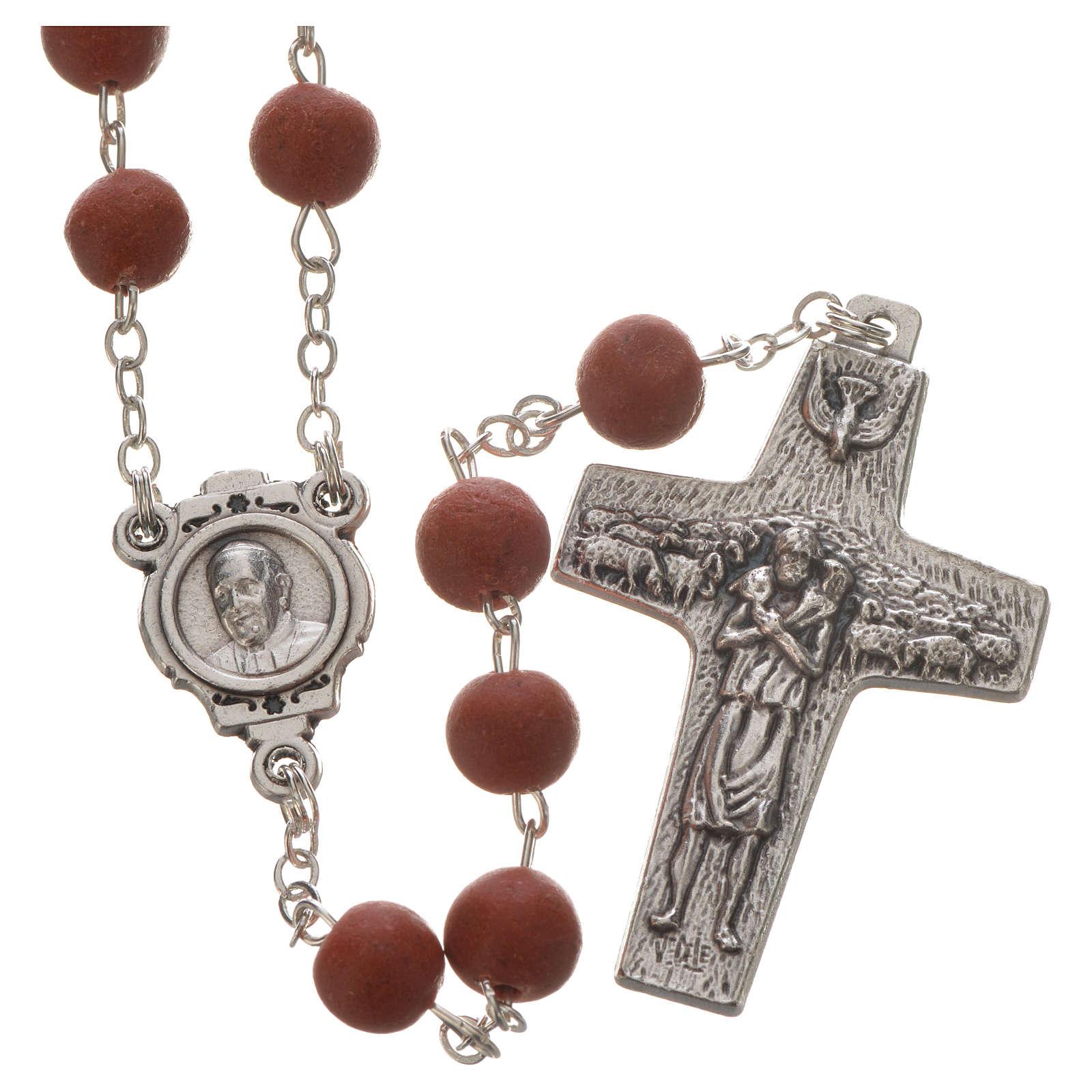 Jasmine perfumed rosary beads, red, Pope Francis 4