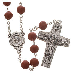 Jasmine perfumed rosary beads, red, Pope Francis s1