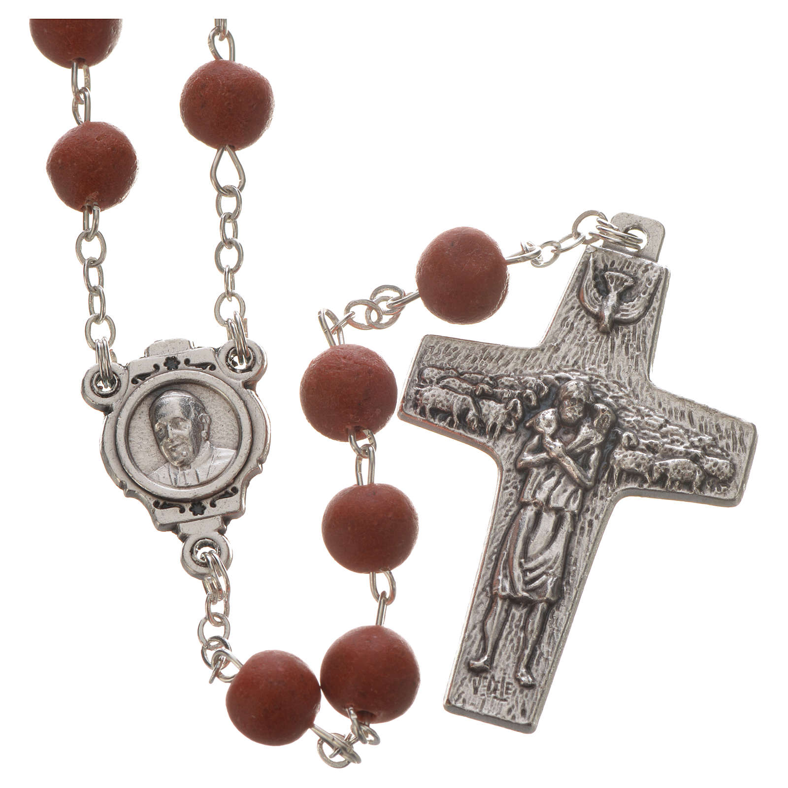 Jasmine perfumed rosary beads, red, Pope Francis 4