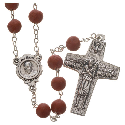 Jasmine perfumed rosary beads, red, Pope Francis 1