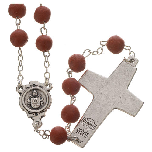 Jasmine perfumed rosary beads, red, Pope Francis 2