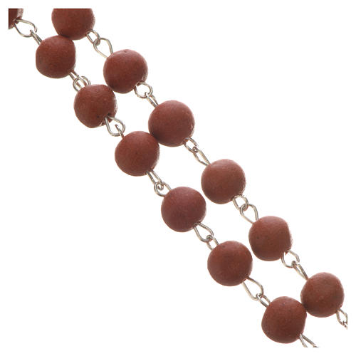 Jasmine perfumed rosary beads, red, Pope Francis 3