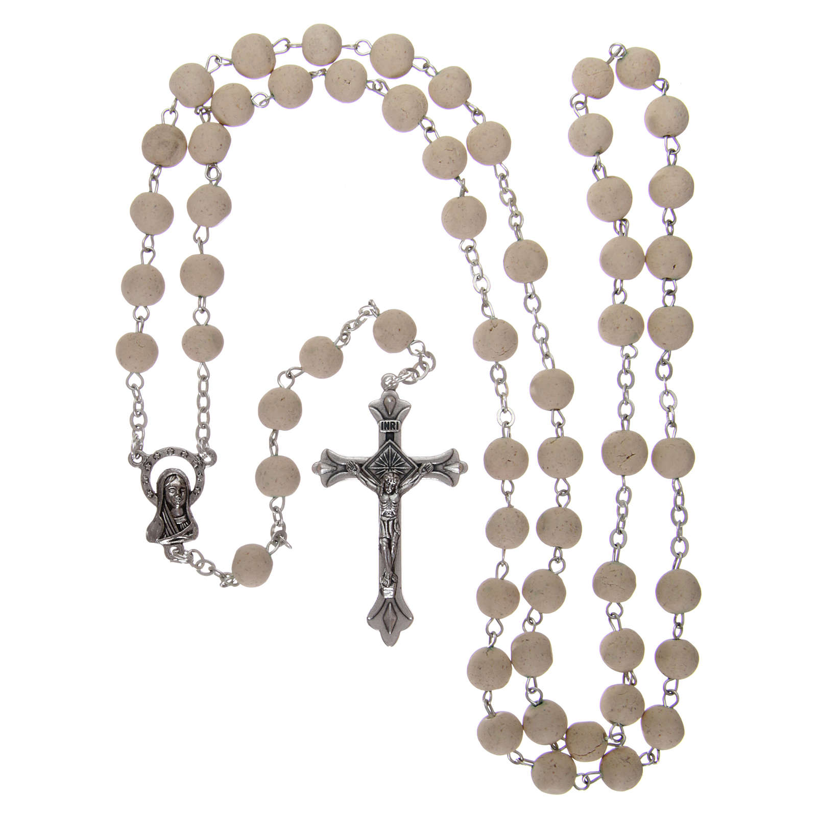 Rosary with jasmine petal grains 4x5 mm, Saint Therese 4