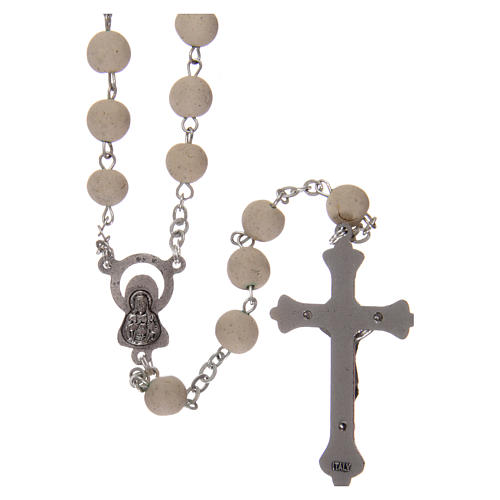 Rosary with jasmine petal grains 4x5 mm, Saint Therese 2