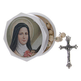 Rosario perfumado granos jazmín real 5 mm Santa Teresa s5
