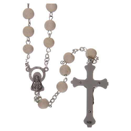 Sented rosary real jasmine beads 5 mm Saint Teresa 2