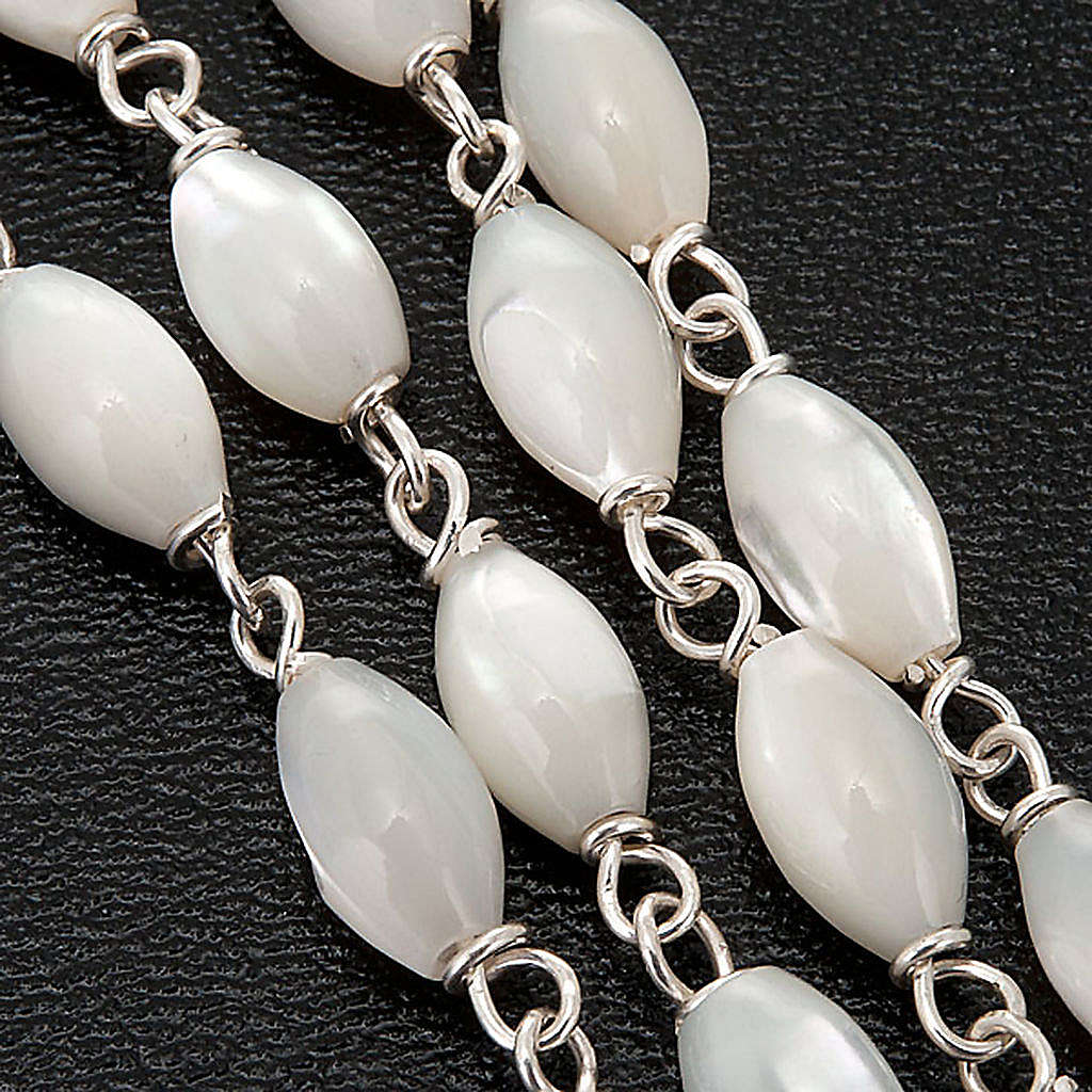 Mother of pearl beads rosary in 925 silver 4