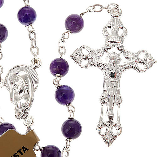 Silver 925 rosary and amethyst 1