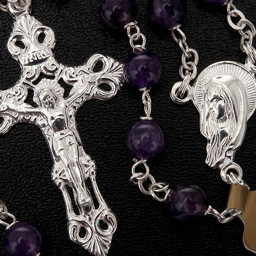 Silver 925 rosary and amethyst 3