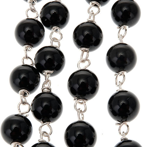 Black onix and silver rosary 3