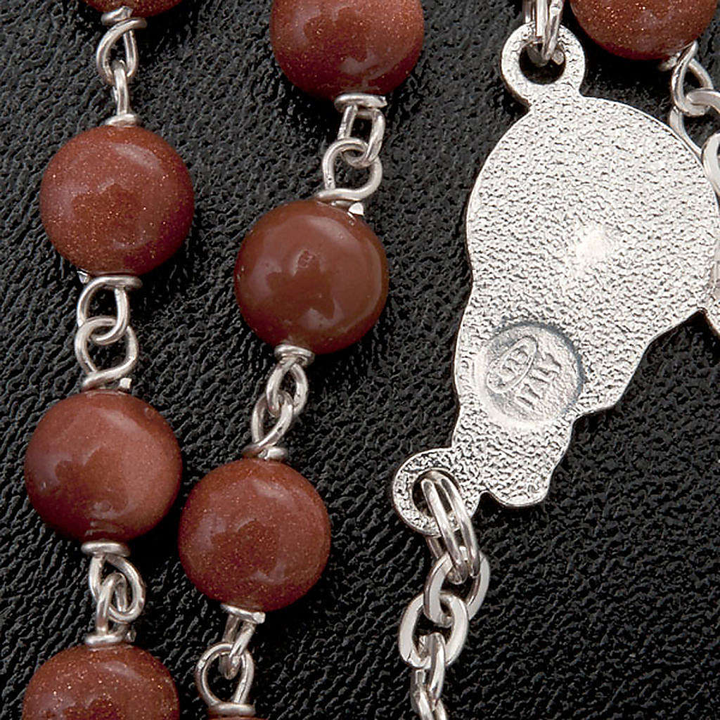 Gold Sand rosary in 925 silver 4