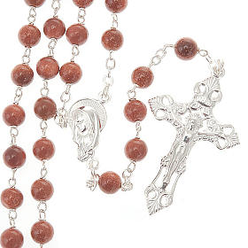 Gold Sand rosary in 925 silver s1
