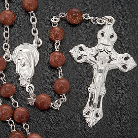Gold Sand rosary in 925 silver s3