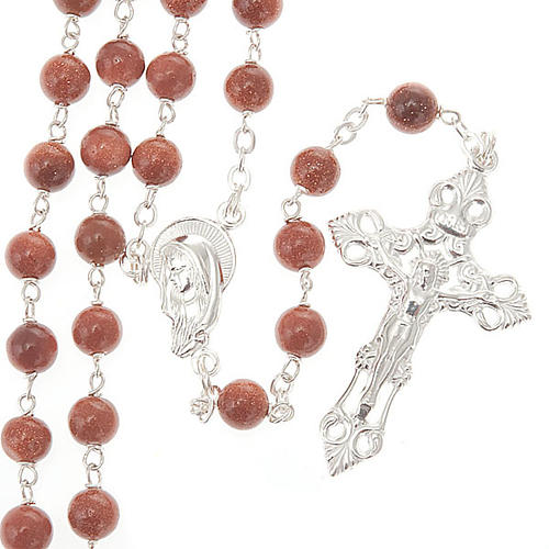Gold Sand rosary in 925 silver 1