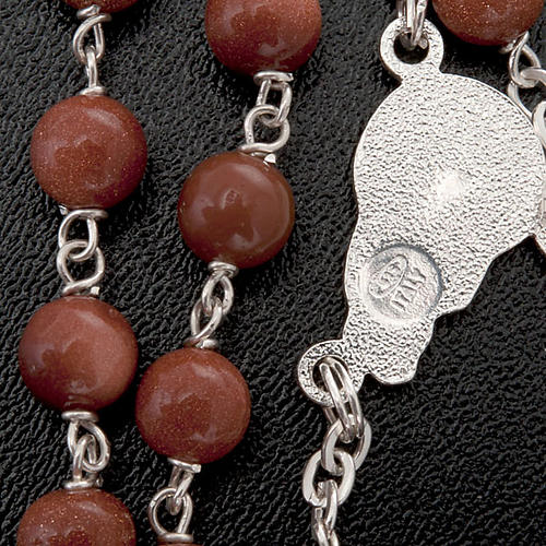 Gold Sand rosary in 925 silver 2