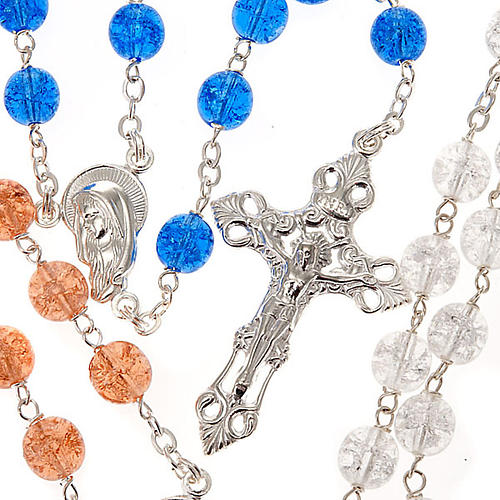 Silver 925 rosary and cracked crystal 1